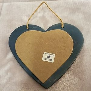 "Carousel Unlimited Wall Art - Blue Wooden Heart ""Always be Thankful"" Sign"